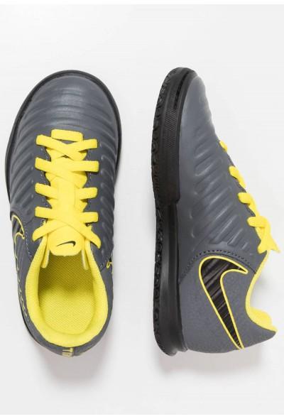 Nike TIEMPO LEGENDX 7 CLUB IC - Chaussures de foot en salle dark grey/optic yellow/black