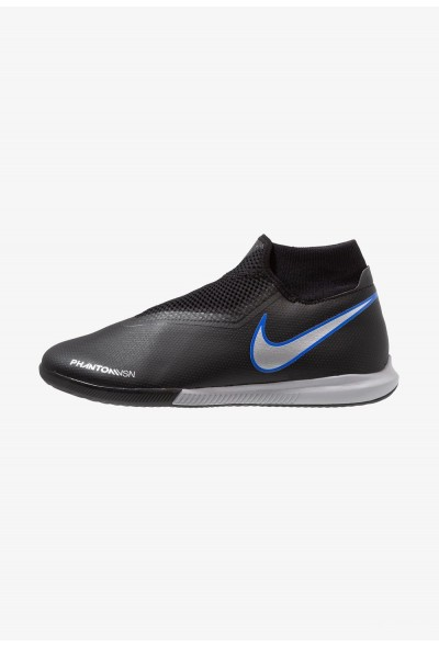 Nike PHANTOM OBRAX 3 ACADEMY DF IC - Chaussures de foot en salle black/metallic silver/racer blue