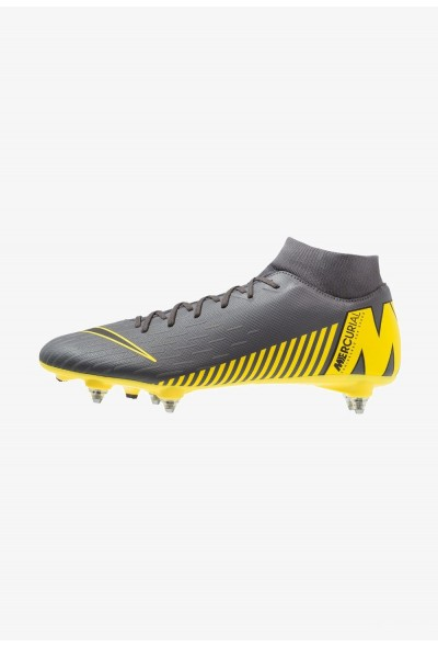 Nike MERCURIAL 6 ACADEMY SGPRO - Chaussures de foot à lamelles dark grey/black/opti yellow