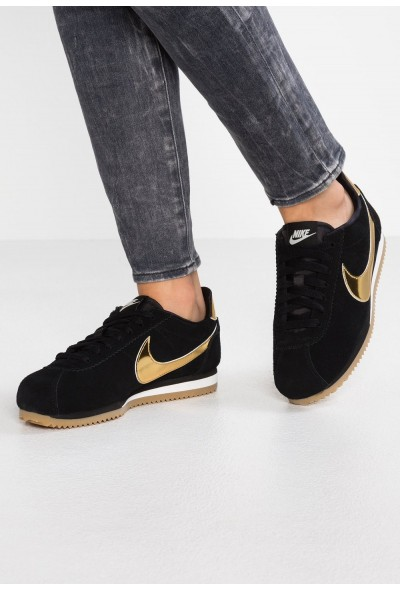 Nike CLASSIC CORTEZ SE - Baskets basses black/metallic gold/phantom/light brown