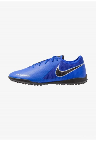 Nike PHANTOM  VSN ACADEMY TF - Chaussures de foot multicrampons racer blue/black/metallic silver/volt/white