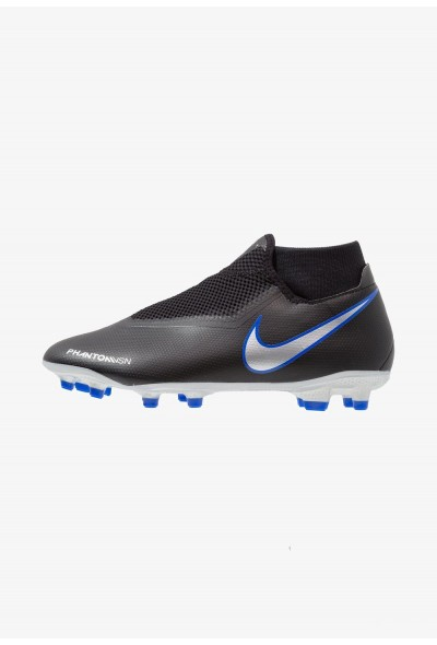 Nike PHANTOM OBRA 3 ACADEMY DF MG - Chaussures de foot à crampons black/metallic silver/racer blue