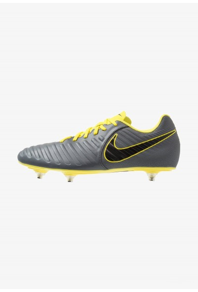Nike TIEMPO LEGEND 7 CLUB SG - Chaussures de foot à lamelles dark grey/black/optic yellow