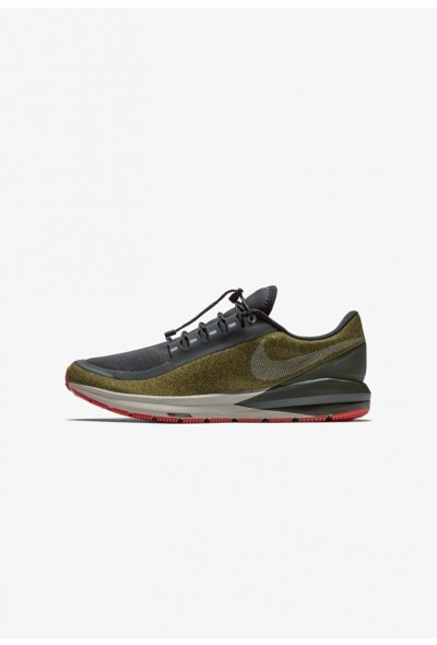 Nike AIR ZOOM STRUCTURE 22 SHIELD - Chaussures de running stables olive flak/black/string/metallic silver