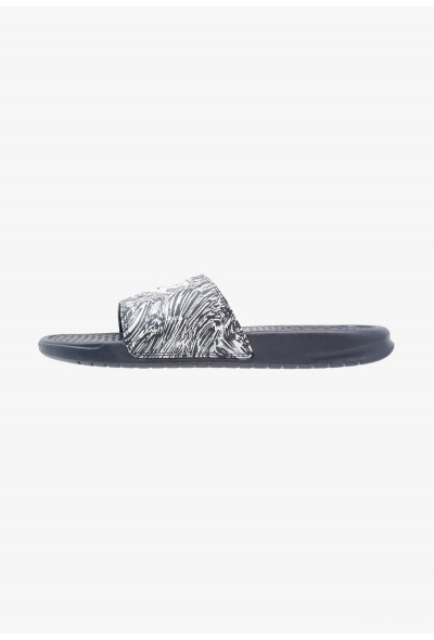 Nike BENASSI JDI PRINT - Mules obsidian/pure platinum