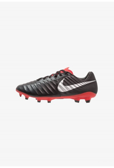 Nike TIEMPO LEGEND 7 PRO FG - Chaussures de foot à crampons black/metallic silver/light crimson