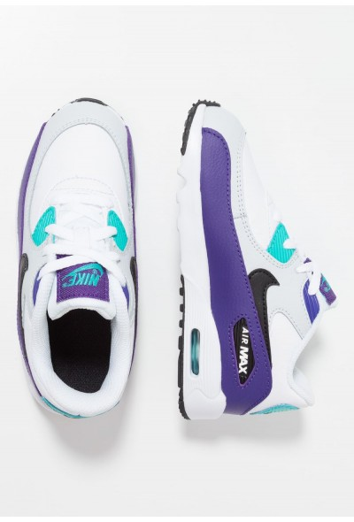 Nike AIR MAX 90  - Baskets basses white/black/hyper jade/court purple/pure platinum