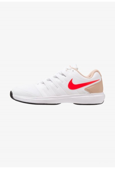 Nike AIR ZOOM PRESTIGE HC - Baskets tout terrain white/bright crimson/bio beige/black