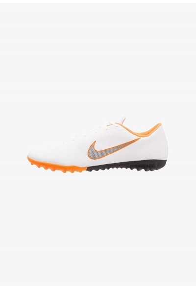 Nike MERCURIAL VAPORX 12 ACADEMY TF - Chaussures de foot multicrampons white/chrome/total orange