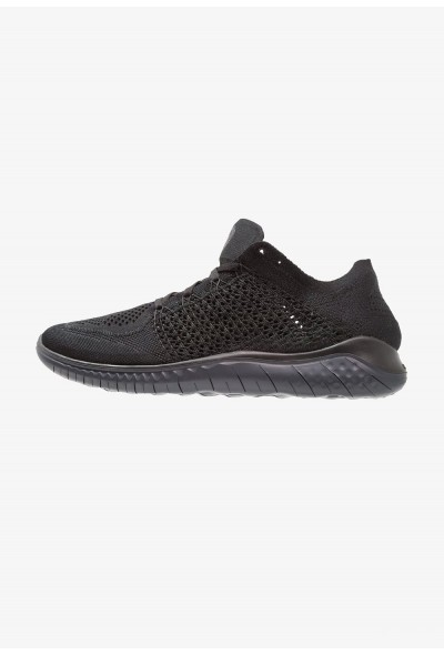 Nike FREE RUN FLYKNIT 2018 - Chaussures de course neutres black/anthracite