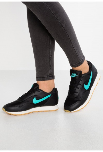Nike OUTBURST - Baskets basses black/hyper jade/yellow/swan