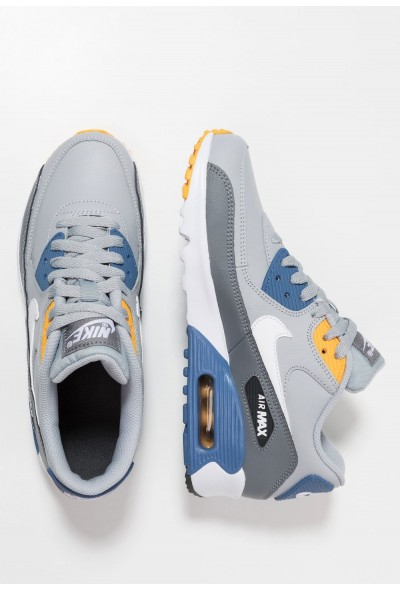 Nike AIR MAX 90  - Baskets basses wolf grey/white/indigo storm/university gold