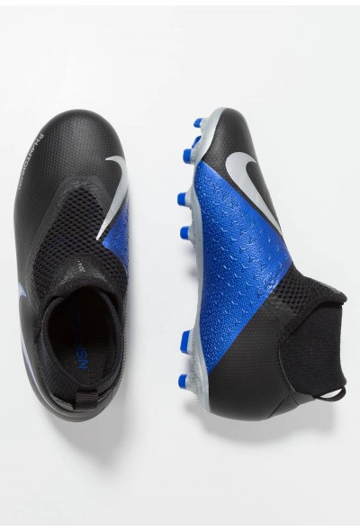 Nike Chaussures de foot à crampons black/metallic silver/racer blue