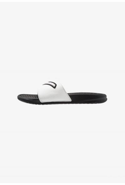 Nike BENASSI JDI CHENILLE - Mules black/summit white