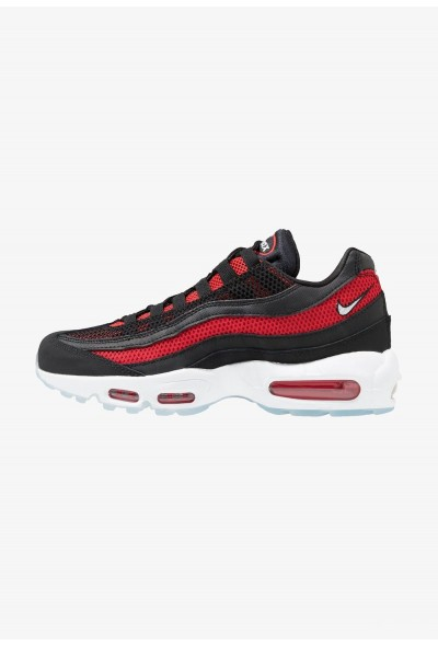 Nike AIR MAX 95 ESSENTIAL - Baskets basses black/white/university red/reflect silver