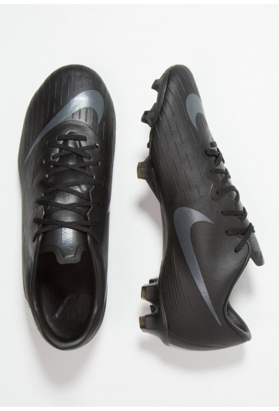 Nike MERCURIAL VAPOR 12 PRO FG - Chaussures de foot à crampons black/anthracite/light crimson