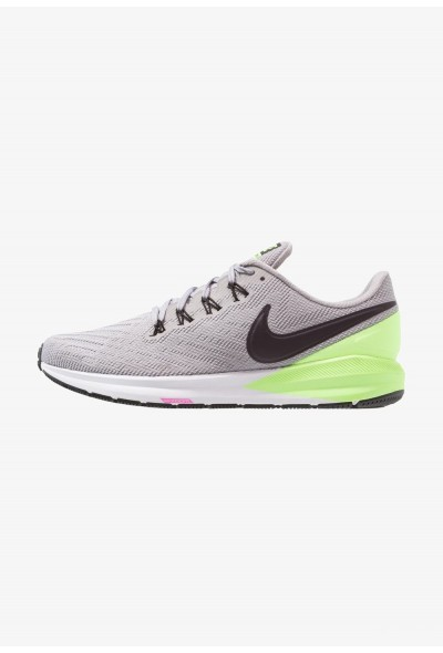 Nike AIR ZOOM STRUCTURE  - Chaussures de running stables atmosphere grey/burgundy ash/lime blast/black/laser fuchsia/white