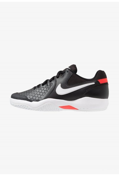 Black Friday 2019 - Nike AIR ZOOM RESISTANCE - Chaussures de tennis sur terre battue black/white/bright crimson