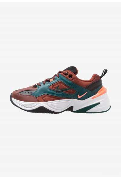 Nike M2K TEKNO - Baskets basses pueblo brown/black/rainforest/bright mango/white