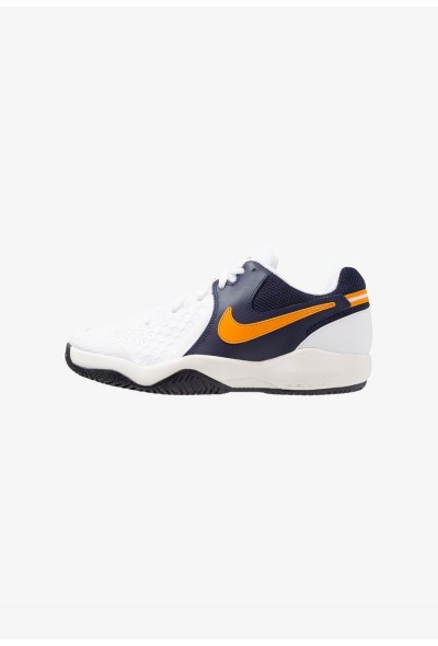 Black Friday 2019 - Nike AIR ZOOM RESISTANCE - Chaussures de tennis sur terre battue white/orange peel/blackened blue/phantom