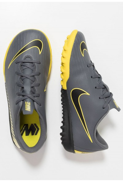 Nike MERCURIAL VAPORX 12 ACADEMY TF - Chaussures de foot multicrampons dark grey/black/opti yellow