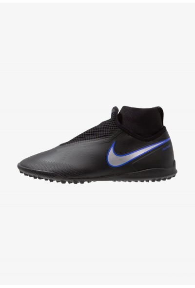 Nike PHANTOM REACT OBRA PRO TF - Chaussures de foot multicrampons black/metallic silver/racer blue