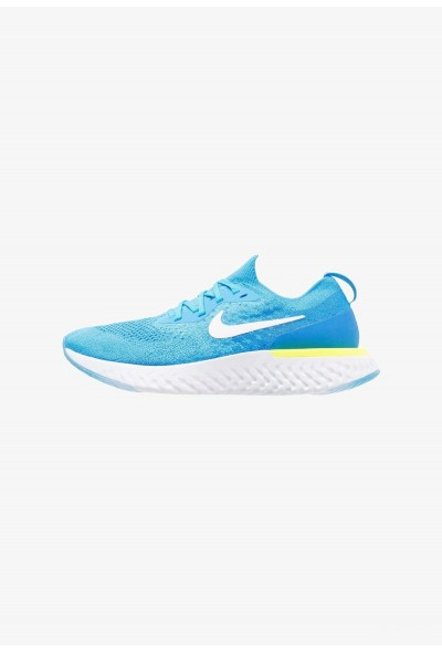 Nike EPIC REACT FLYKNIT - Chaussures de running neutres blue glow/white/photo blue/volt glow
