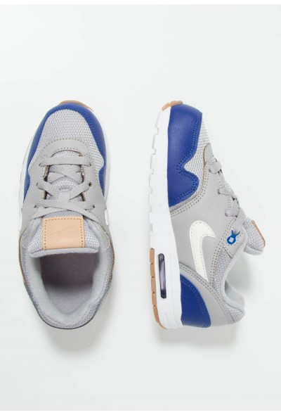 Nike AIR MAX 1 - Baskets basses atmosphere grey/sail/deep royal blue