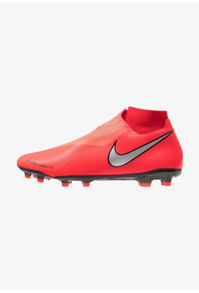 Nike PHANTOM OBRA 3 ACADEMY DF MG - Chaussures de foot à crampons bright crimson/metallic silver/university red/black