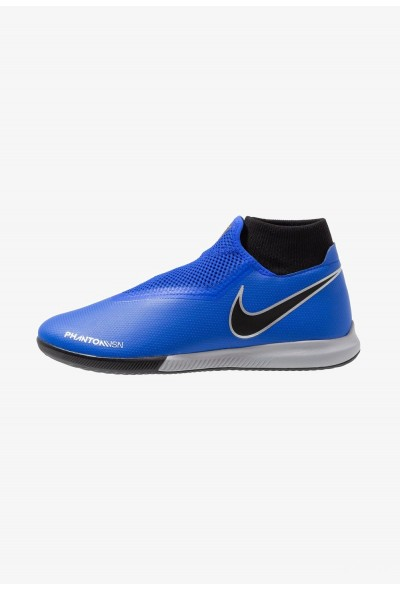 Nike PHANTOM OBRAX 3 ACADEMY DF IC - Chaussures de foot en salle racer blue/black/metallic silver/volt