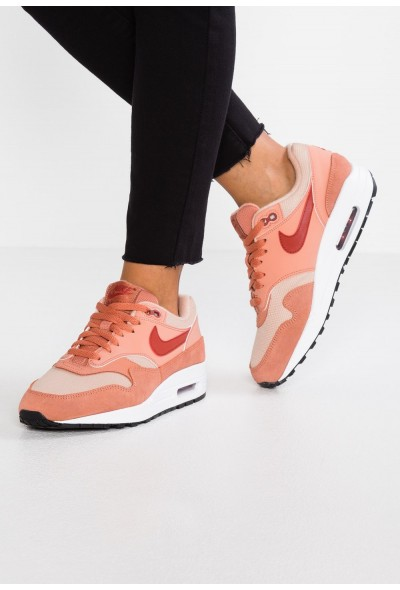 Nike AIR MAX 1 - Baskets basses terra blush/dune red/bio beige/black/white