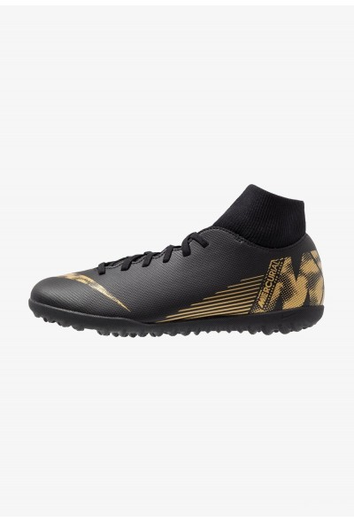 Nike SUPERFLYX 6 CLUB TF - Chaussures de foot multicrampons black/metallic vivid gold