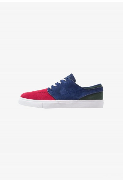 Nike ZOOM STEFAN JANOSKI - Baskets basses red crush/blue void/white/midnight green/light brown/yellow ochre