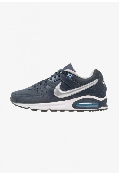 Nike AIR MAX COMMAND - Baskets basses obsidian/metallic silver/bluecap/white/black