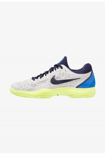 Nike AIR ZOOM CAGE 3 HC - Chaussures de tennis sur terre battue vast grey/blackened blue/signal blue