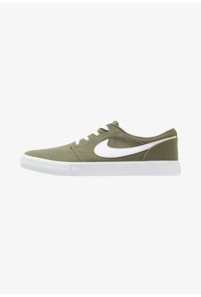 Nike PORTMORE II SS CNVS - Baskets basses med olive/white