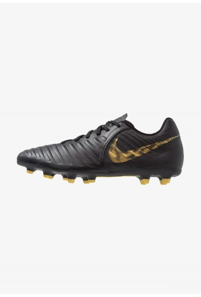 Nike TIEMPO LEGEND 7 CLUB MG - Chaussures de foot à crampons black/metalic vivid gold