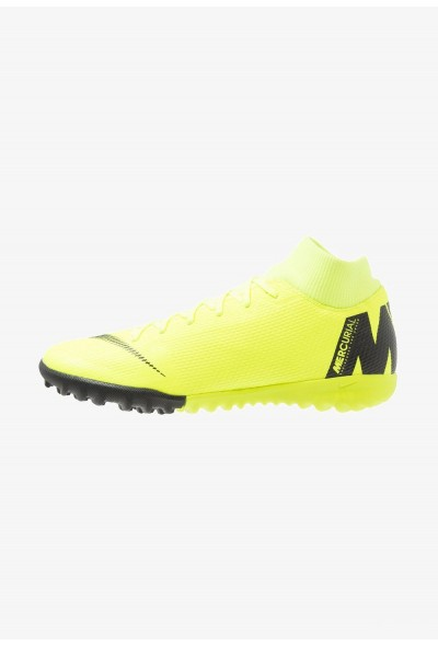 Nike MERCURIAL SUPERFLYX 6 ACADEMY TF - Chaussures de foot multicrampons volt/black