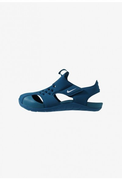 Nike SUNRAY PROTECT  - Sandales de bain green abyss/white