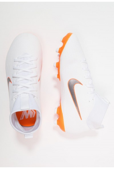 Nike MERCURIAL 6 ACADEMY MG - Chaussures de foot à crampons white/chrome/total orange