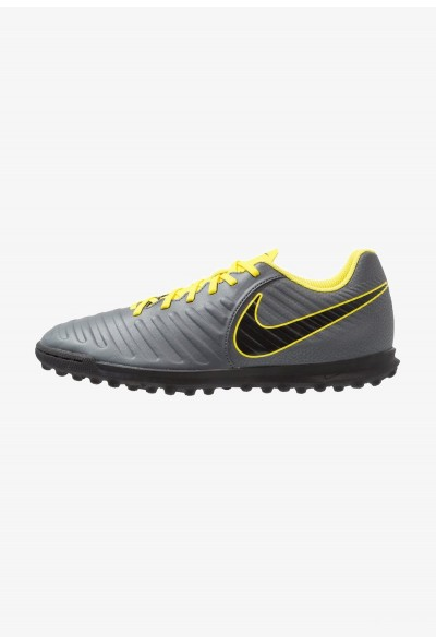 Nike TIEMPO LEGENDX 7 CLUB TF - Chaussures de foot multicrampons dark grey/opti yellow/black