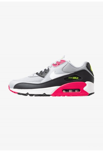 Nike AIR MAX 90 ESSENTIAL - Baskets basses wolf grey/white/rush pink/volt/anthracite/black