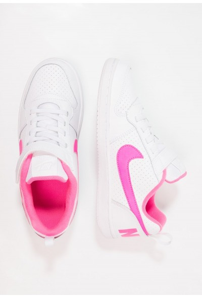 Nike COURT BOROUGH - Baskets basses white/pink blast