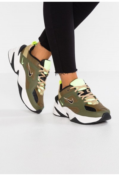 Nike M2K TEKNO - Baskets basses medium olive/black/yukon brown/parachute beige/phantom/desert