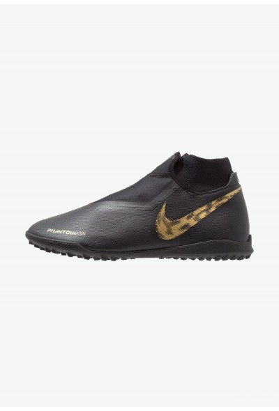 Nike PHANTOM OBRAX 3 ACADEMY DF TF - Chaussures de foot multicrampons black/metallic vivid gold
