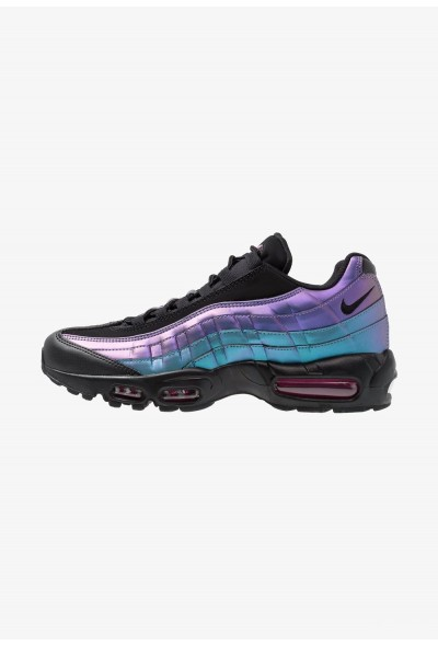 Nike AIR MAX 95 PRM - Baskets basses black/laser fuchsia