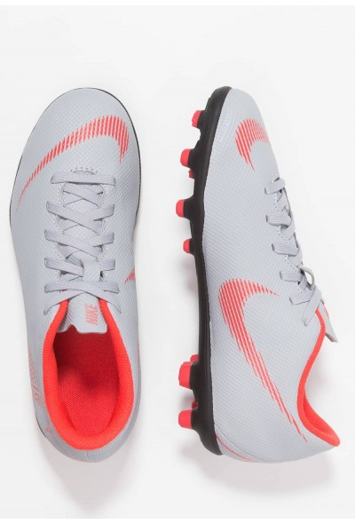 Nike MERCURIAL VAPOR 12 CLUB MG - Chaussures de foot à crampons wolf grey/light crimson/black