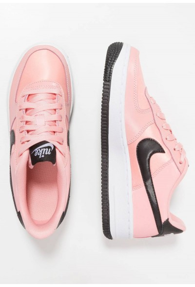 Nike AIR FORCE - Baskets basses bleached coral/black/white