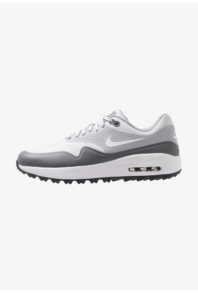 Nike AIR MAX 1 - Chaussures de golf pure platinum/white/wolf grey/cool grey/anthracite