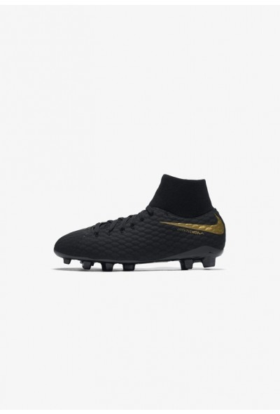 Nike PHANTOM 3 ACADEMY DF FG - Chaussures de foot à crampons black/metallic vivid gold